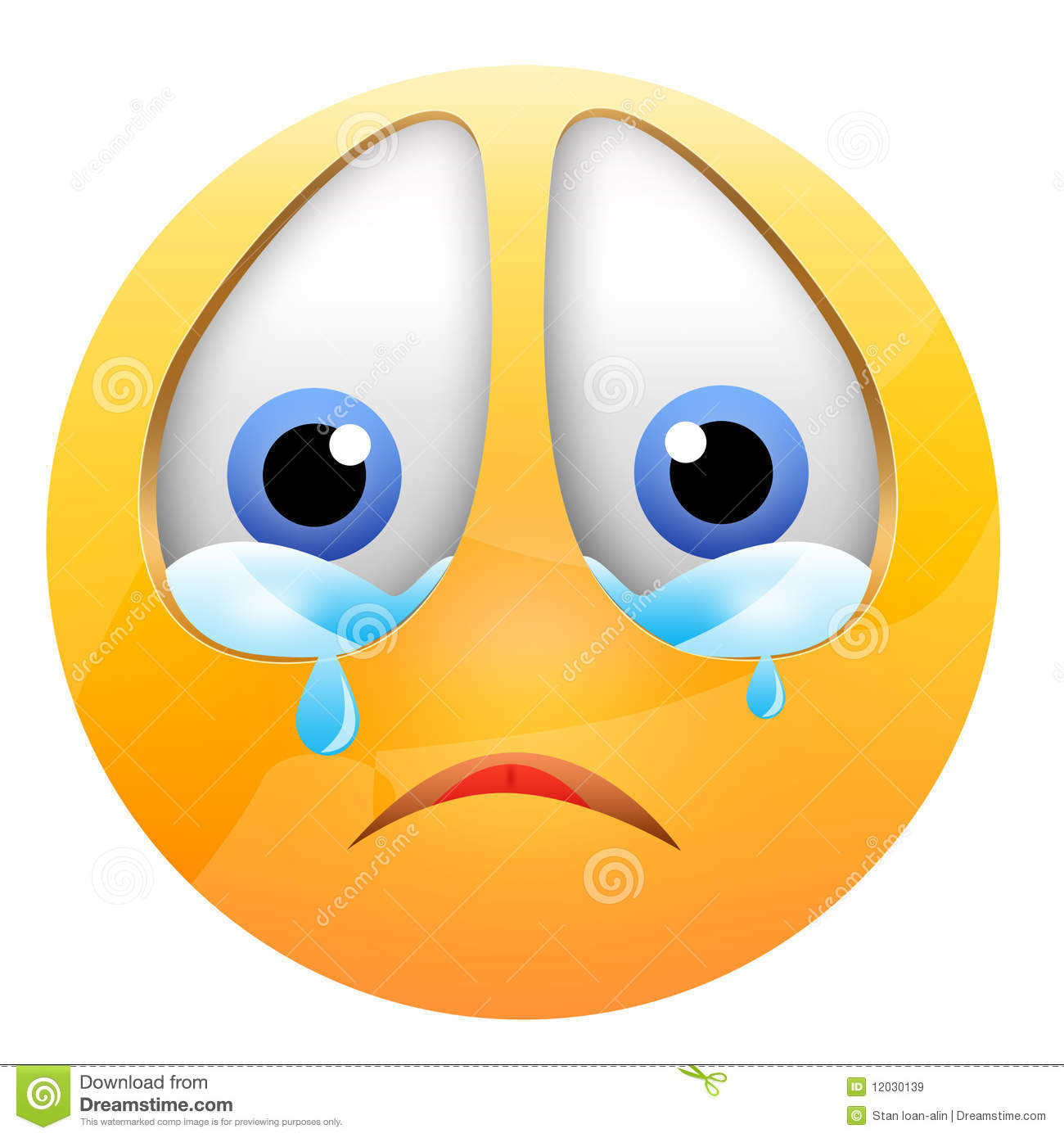 Crying Smiley Royalty Free Stock Images   Image  12030139