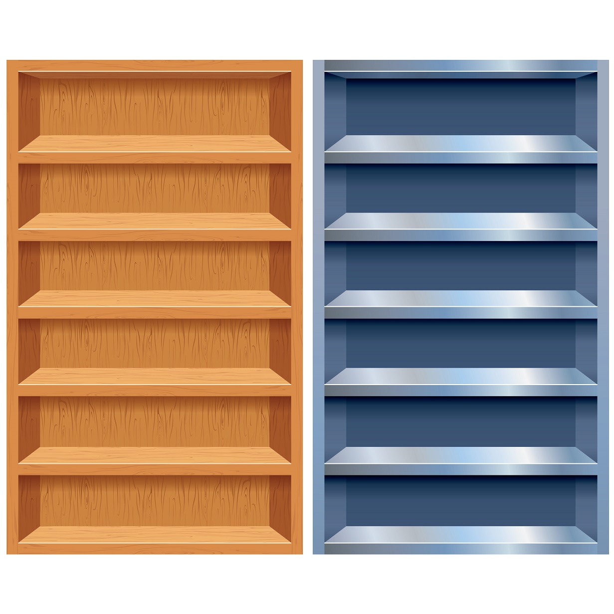 Empty Bookshelf Clipart Clipart Suggest