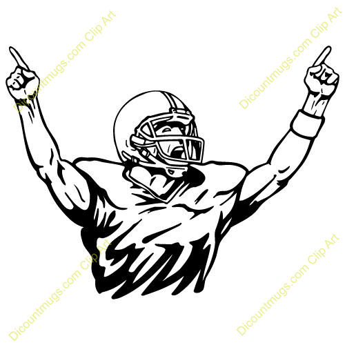 Football Player Celebrating   Clipart Panda   Free Clipart Images