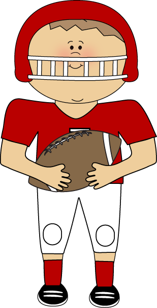 Football Player Clip Art Image   Football Player Wearing A Football
