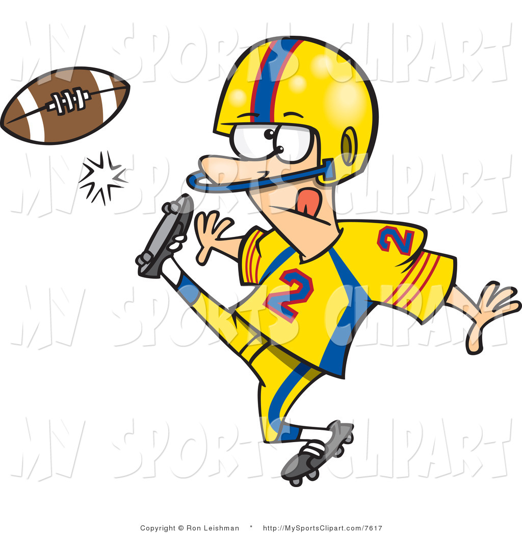 Football Player Clip Art Sports Clip Art Of A Football Player