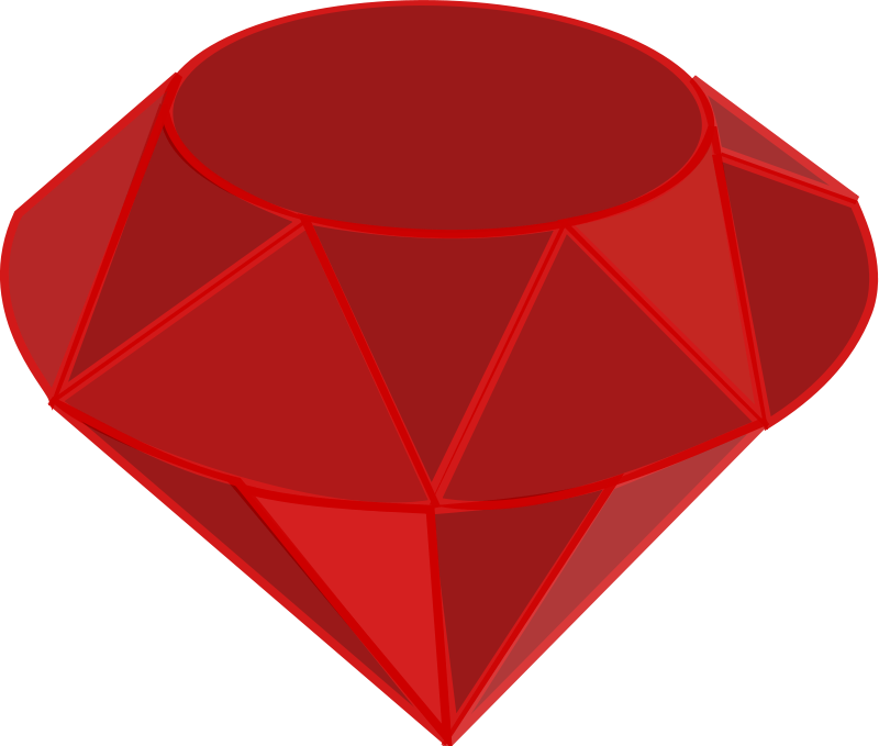 Free Red Ruby Gemstone Clip Art