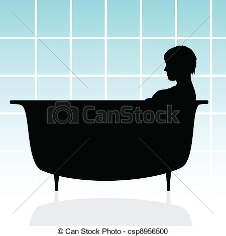 Girl In Bathtub Clip Art