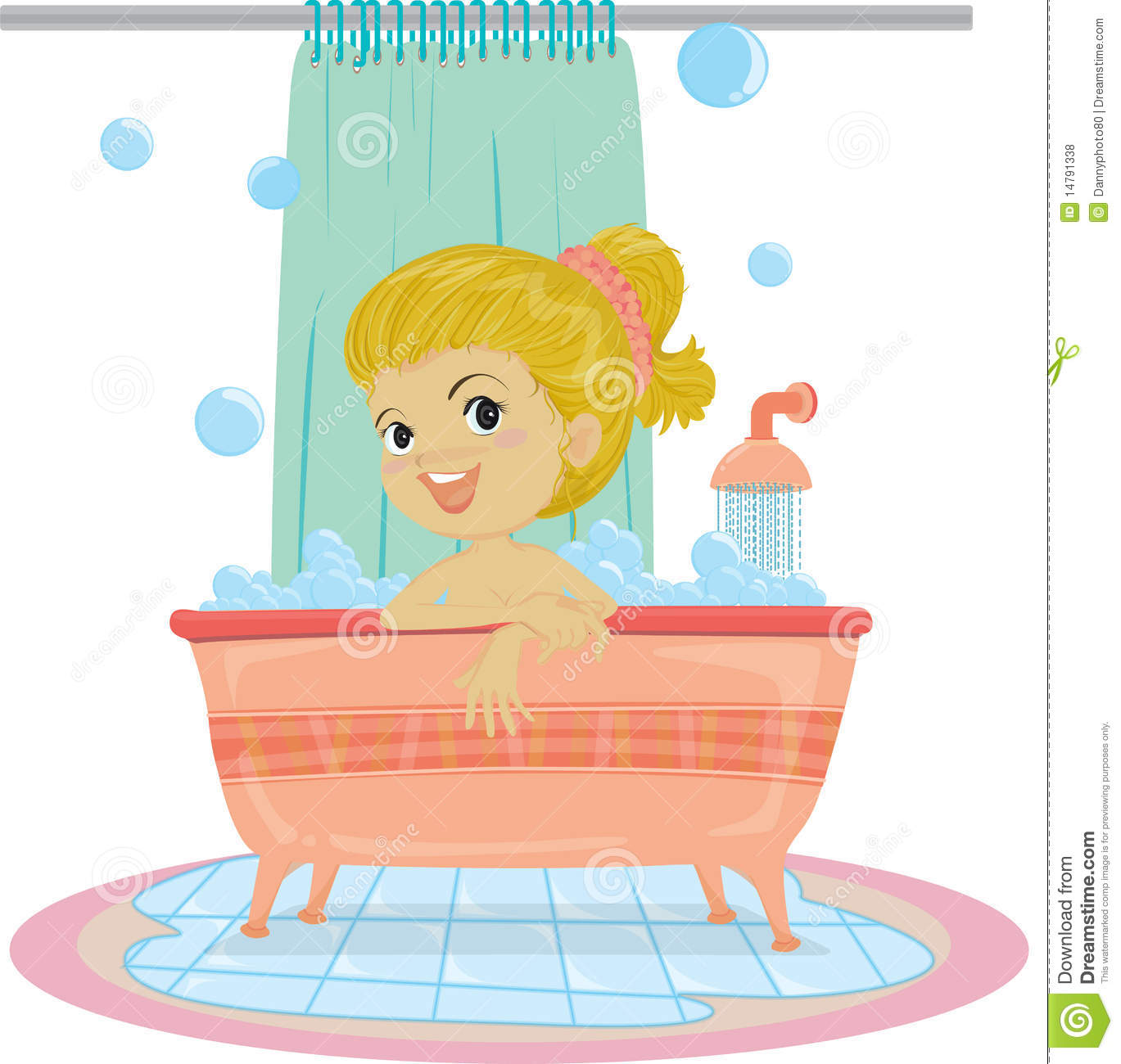 Girl Taking Bath Royalty Free Stock Photos   Image  14791338