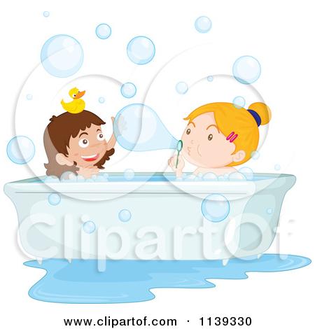 Girl Bath Time Clipart - Clipart Kid