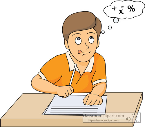 Student Testing Clipart - Clipart Kid