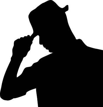 Silhouette    People Male Men Bw Man Wearing Hat Silhouette Png Html