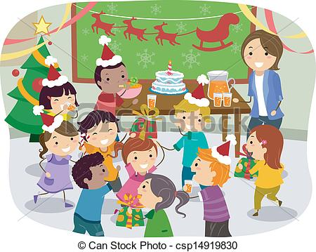 Christmas Party Clipart - Clipart Kid