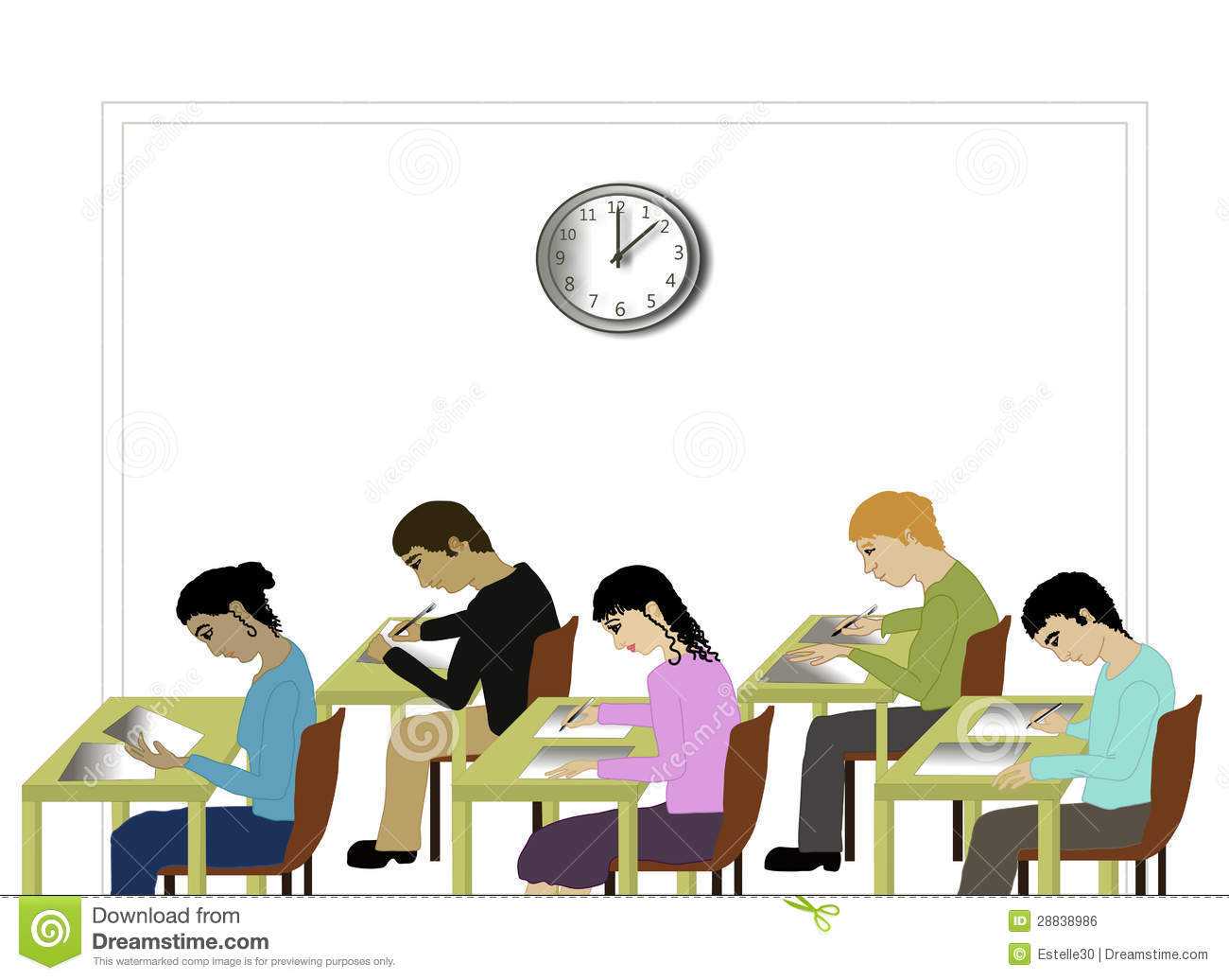 Student Taking Exam Clip Art