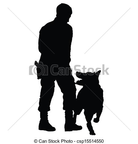 Vector   Police Dog 4   Stock Illustration Royalty Free Illustrations