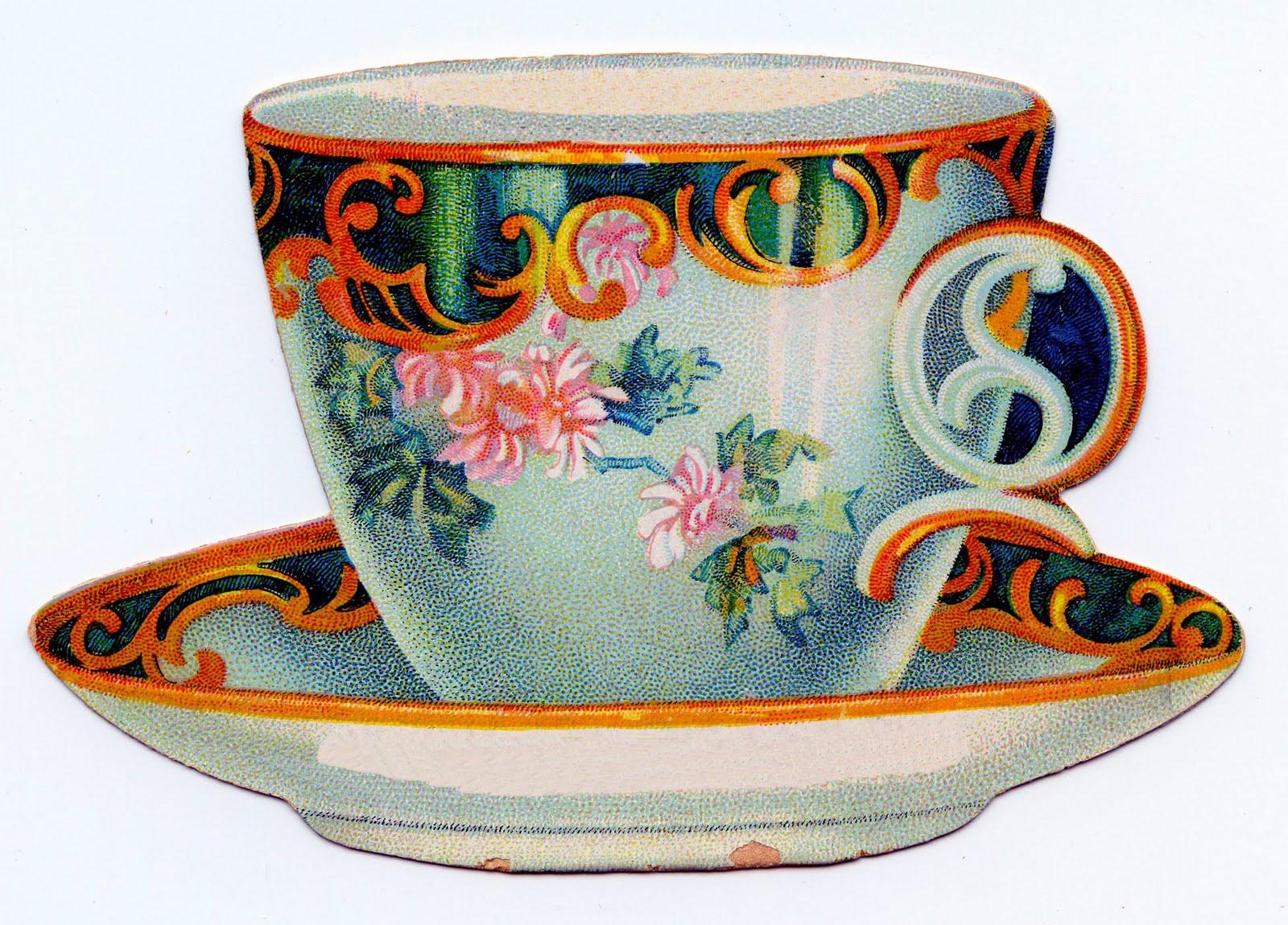 vintage teacup tea cup-#26