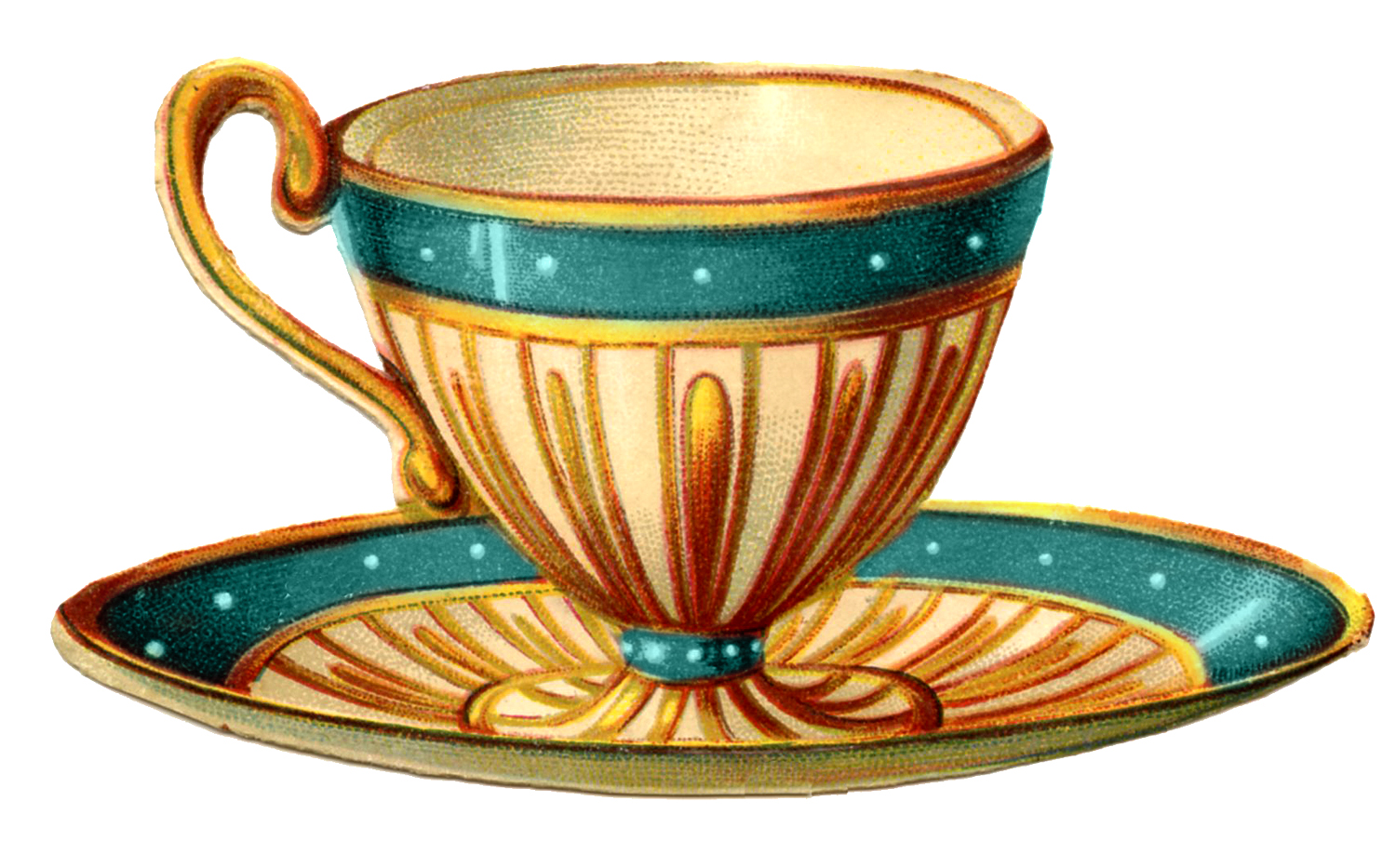 Vintage Tea Cup Clipart Vintage Graphics Pretty