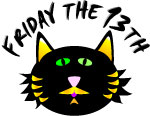 Yikes   It S Friday The 13th  Grab This Black Cat Friday The 13th Clip