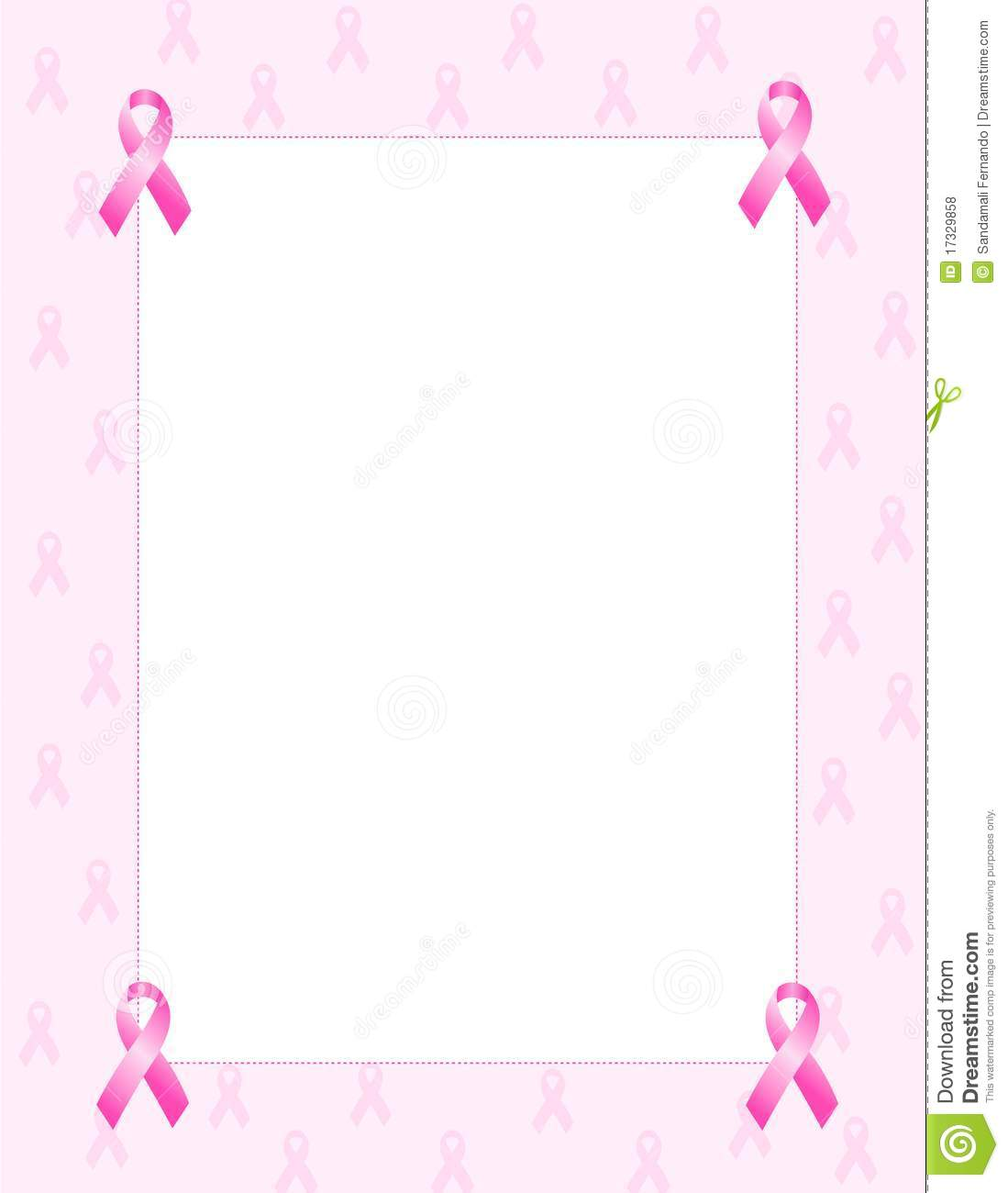 Pink Ribbon Border Clipart - Clipart Suggest