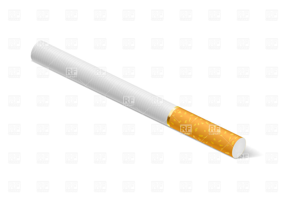 Cigarette With Filter Download Royalty Free Vector Clipart  Eps