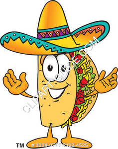 Clipart Illustration Of Cartoon Taco Character Welcoming