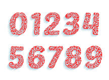 Decorative Numbers Font  Floral Ornament In All Numbers Shapes  Stock