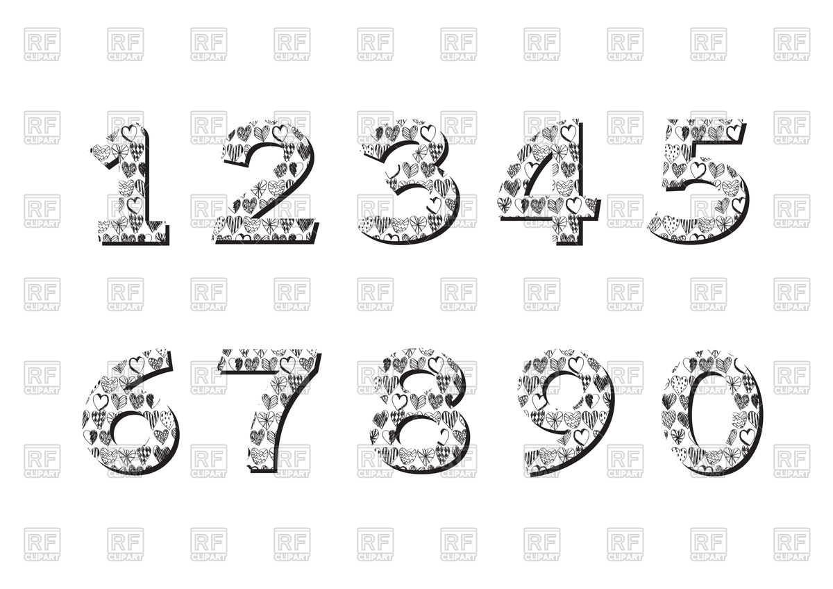 Decorative Numbers Set 99292 Download Royalty Free Vector Clipart