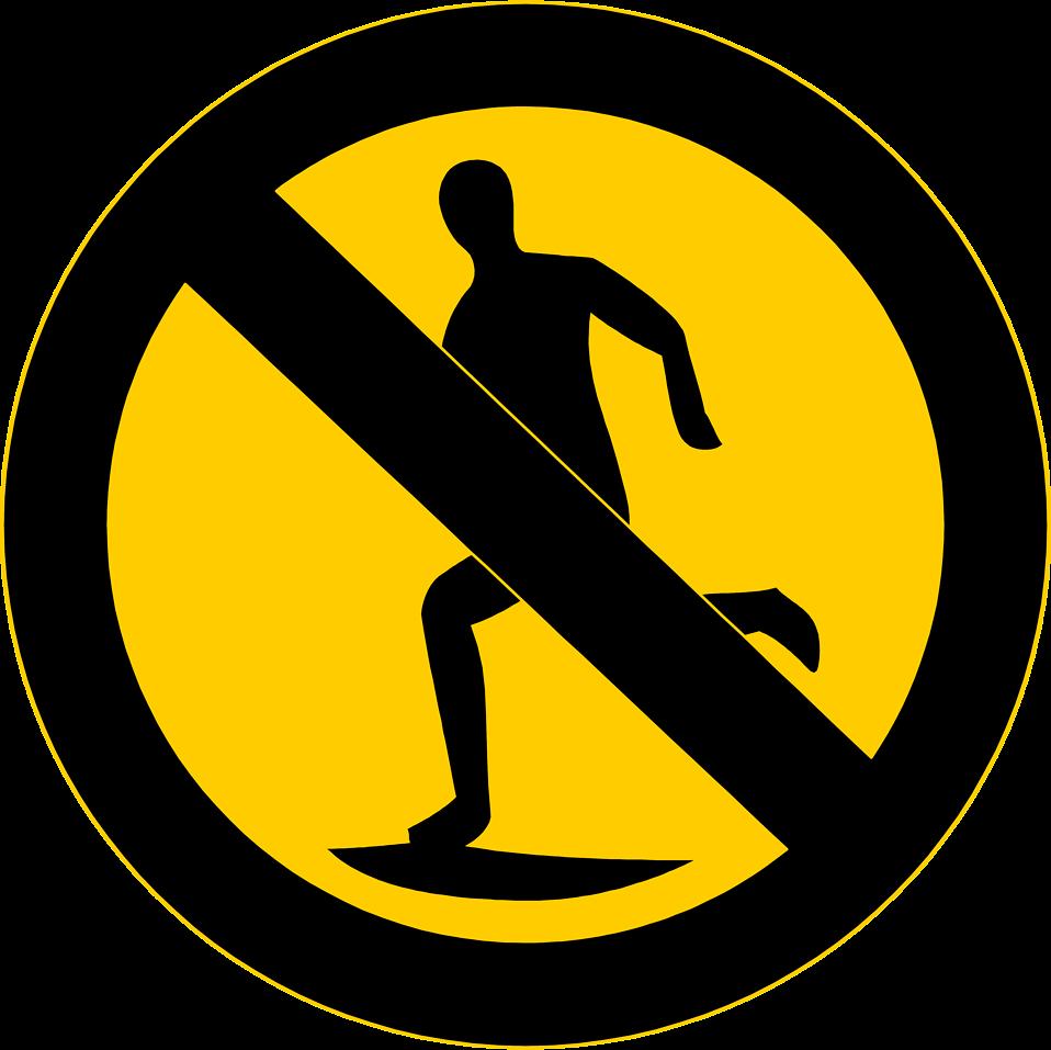 No Running Clipart