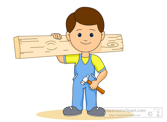 Clip Art Carpenter Clipart carpenter clipart kid download holding wood hammer