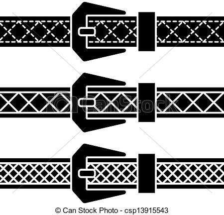 Eps Vector Of Vector Buckle Belt Black Symbols Csp13915543   Search