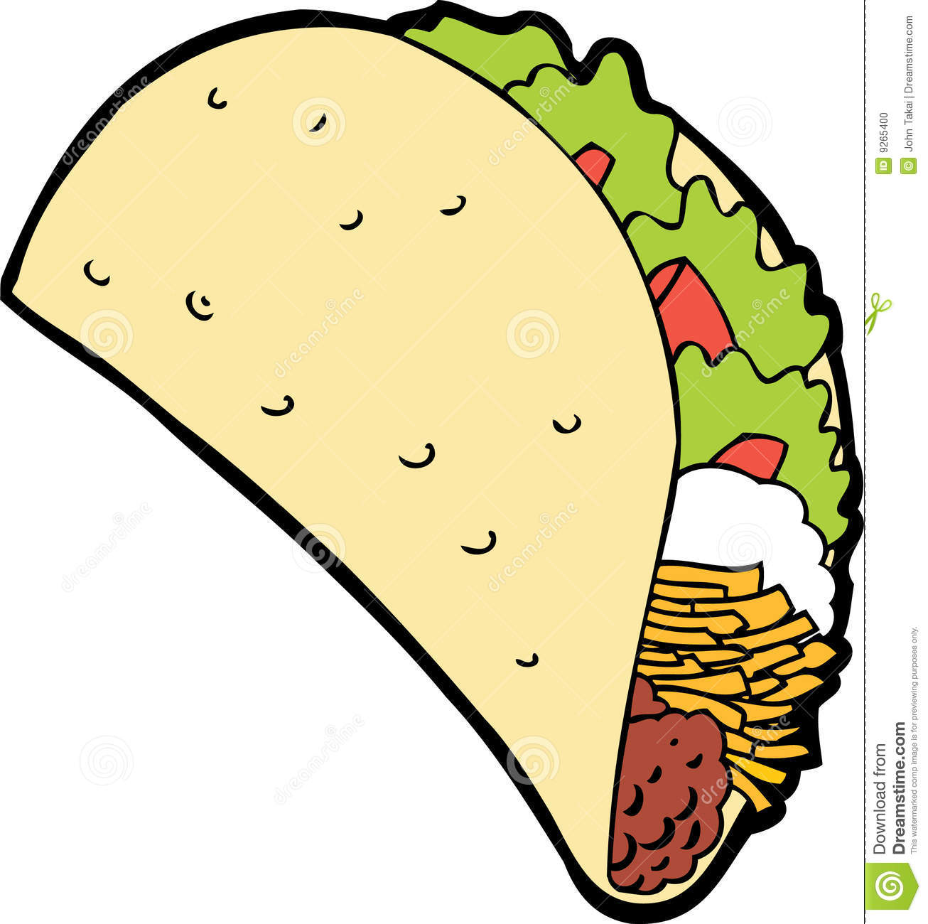 Easy To Draw Tacos Clipart Fish taco clipart - clipart kid