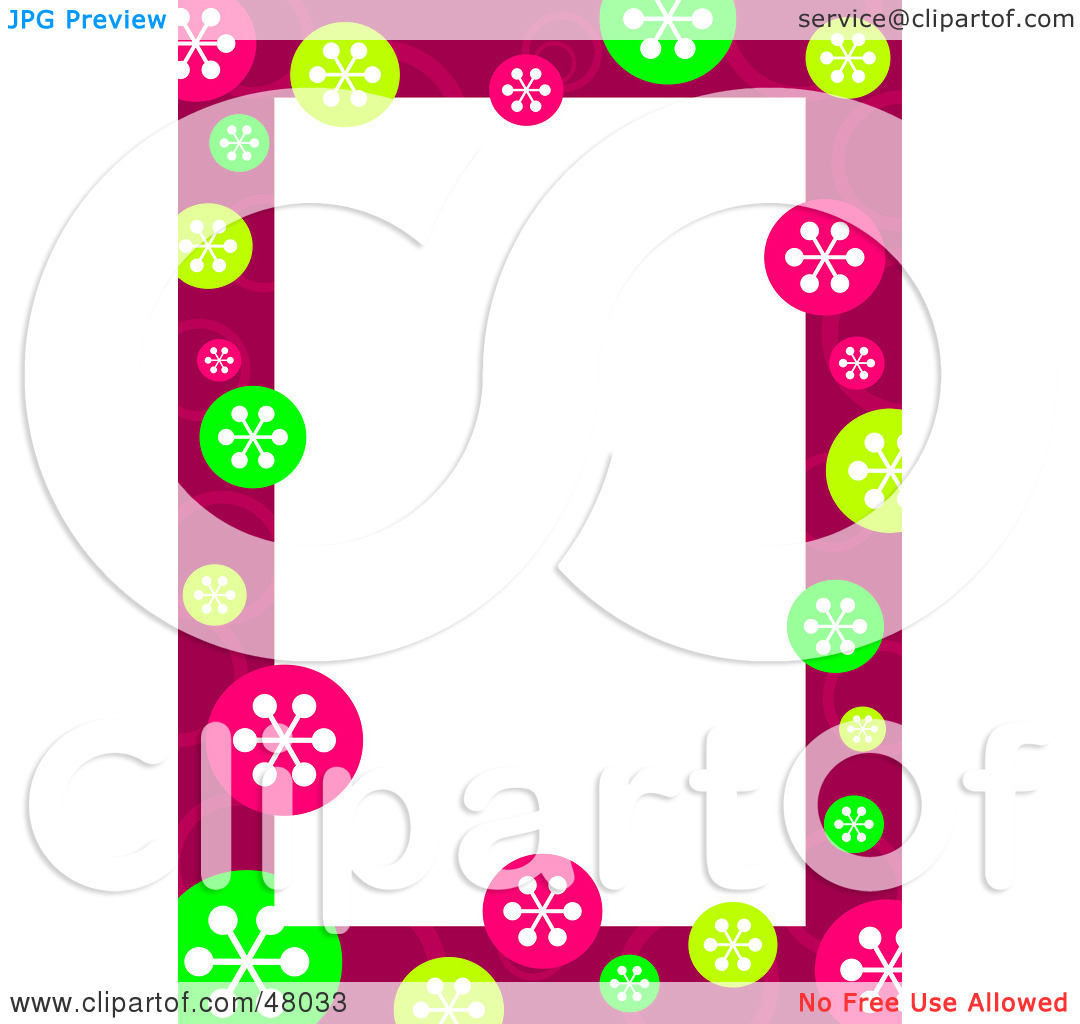 Free  Rf  Clipart Illustration Of A Stationery Border Of Colorful