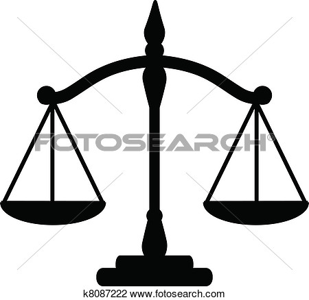 Legal Scales Clipart Justice Scales