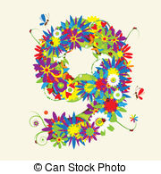 Numbers Floral Design  See Also Numbers In My Gallery Vector
