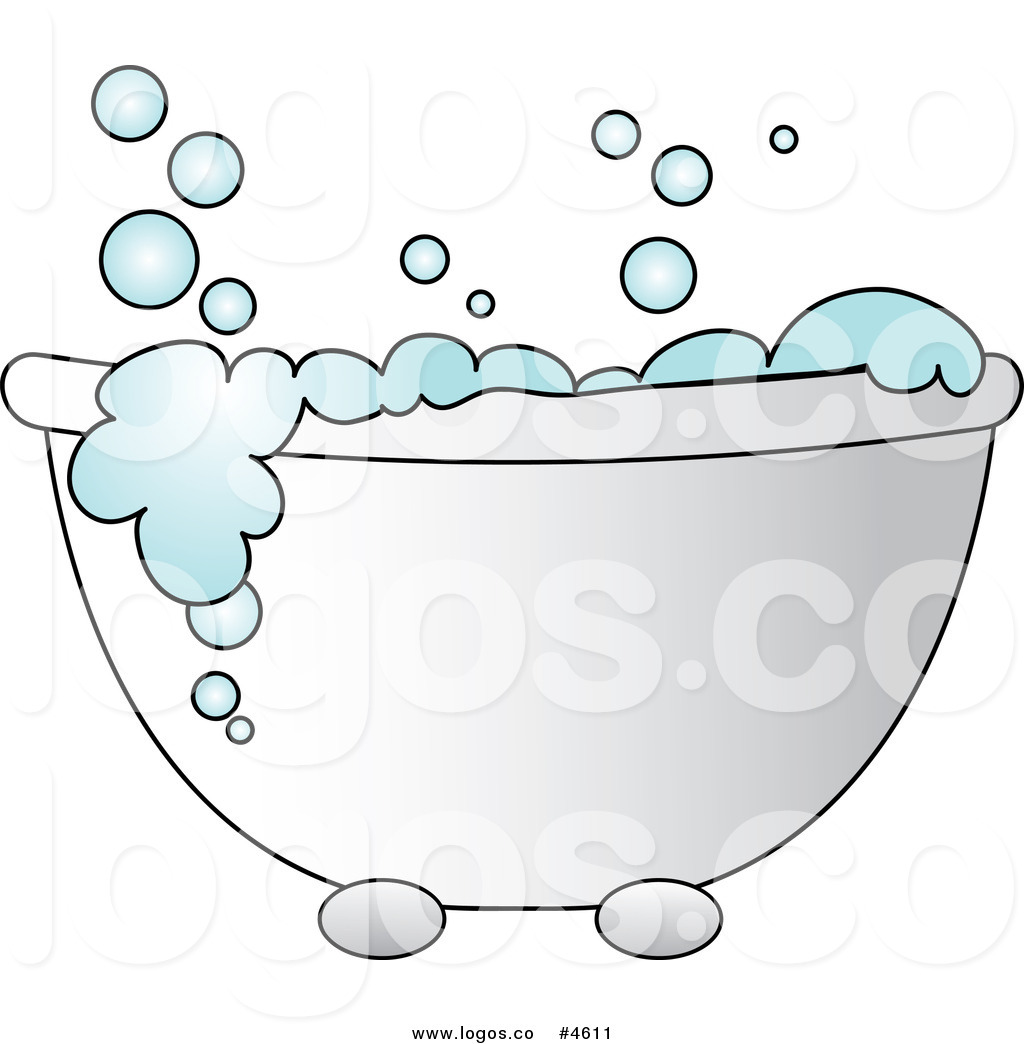 Bathroom Clip Art Free: Bathtub With Bubbles Clipart