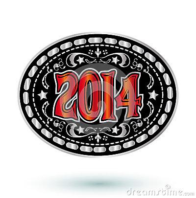 Western Belt Buckle Clip Art 2014 New Year Cowboy Belt