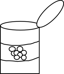 Canned Food Clipart Black And White   Clipart Panda   Free Clipart