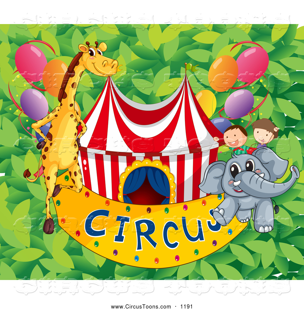 Circus Clipart Of A Children And Animals With A Big Top And Circus