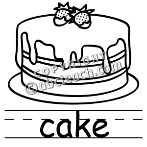 Clip Art  Basic Words  Cake B W  Poster    Preview 1