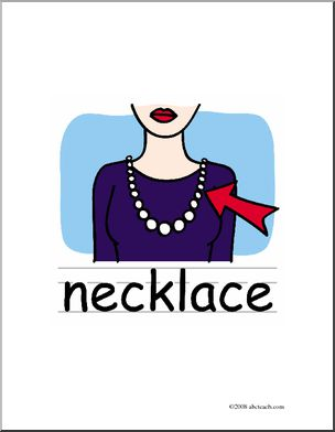 Clip Art  Basic Words  Necklace Color  Poster    Preview 1