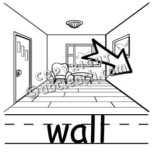 Clip Art  Basic Words  Wall B W  Poster    Preview 1