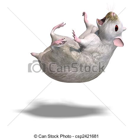 Clipart Of Cute Hamster   3d Rendering Of A Sweet Hamster And Shadow