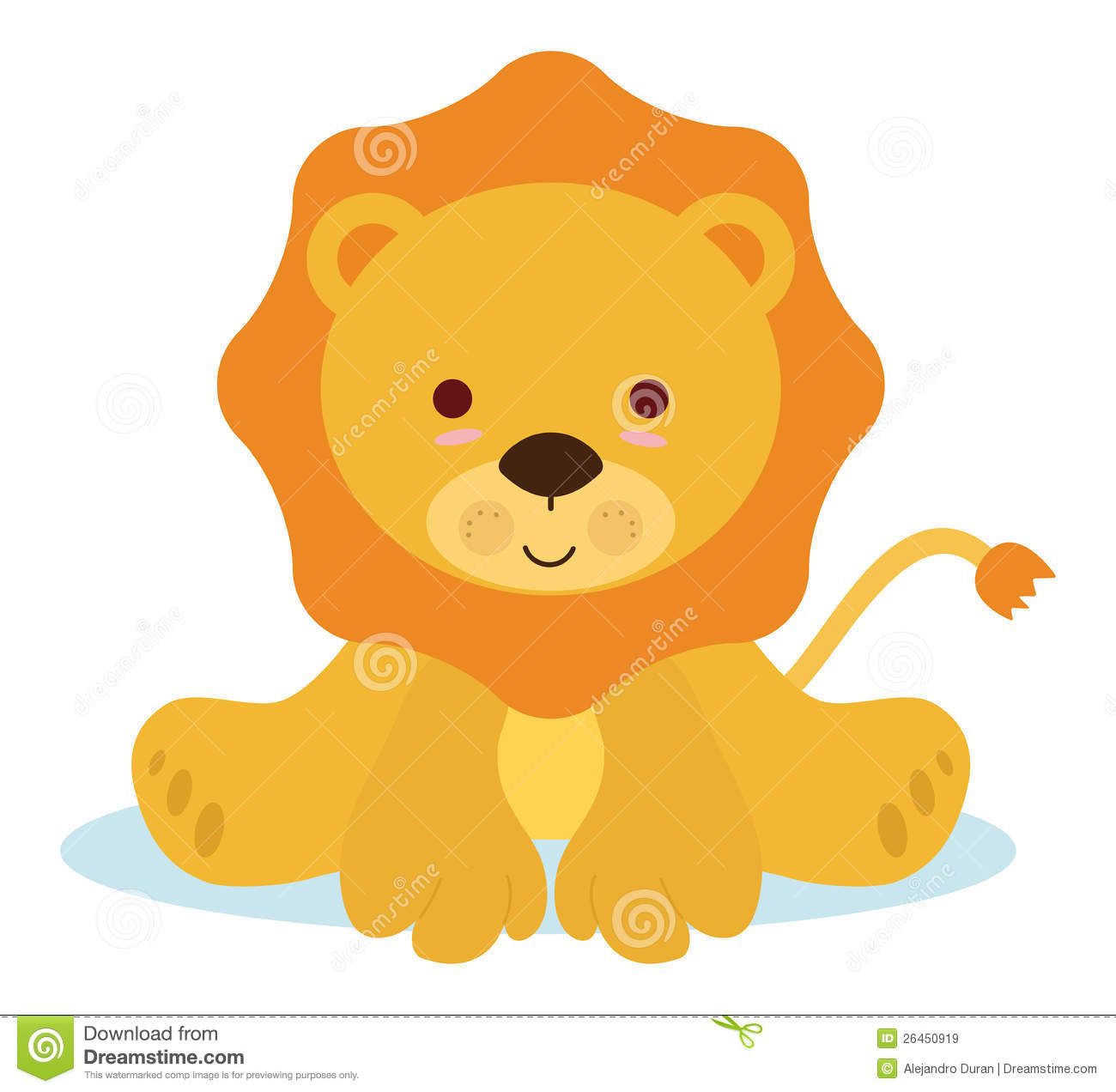 Baby Lion Clipart - Clipart Kid