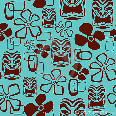 Illustration Of A Seamless Aloha Shirt Pattern Tile  Tile Can Be