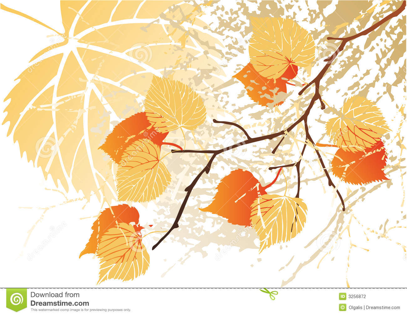 September Leaves Background Stock Photography   Image  3256872