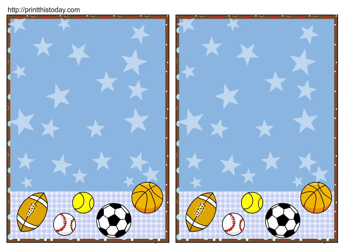 Sports-themed Border Clipart - Clipart Kid