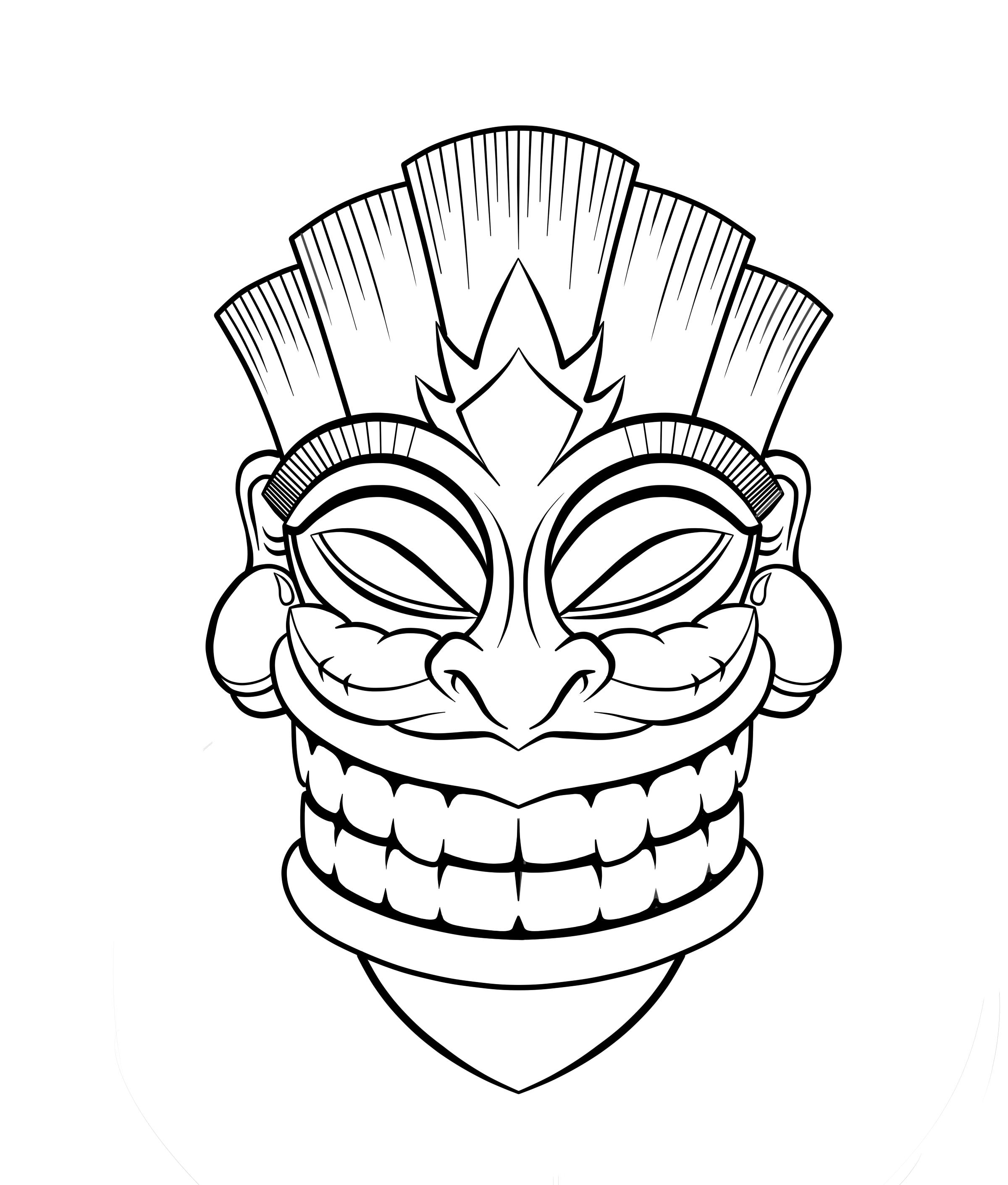 Tiki Mask Clipart - Clipart Kid