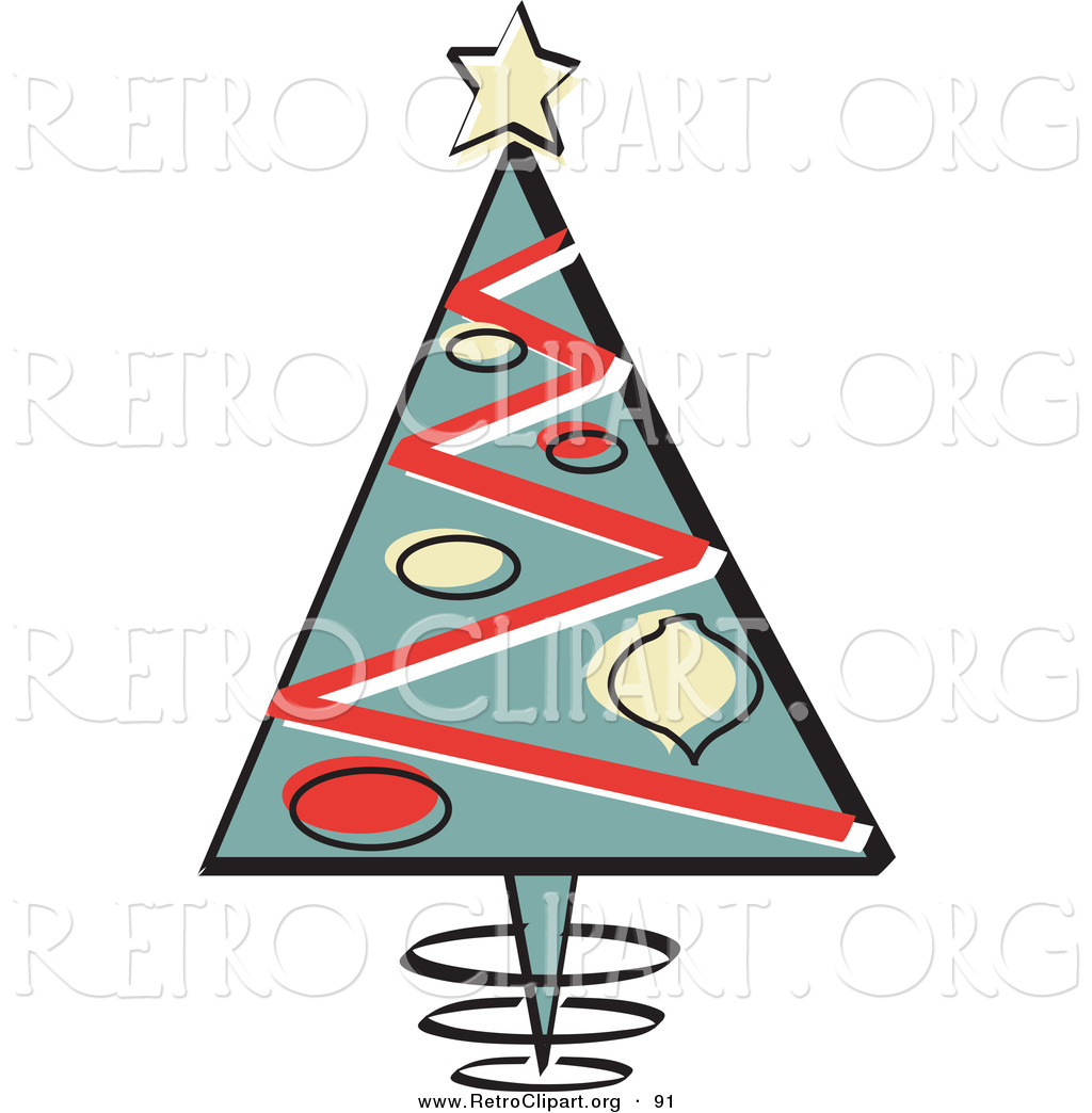Triangular Christmas Tree With Ornaments And A Star On Top Over White
