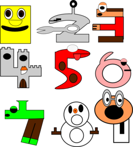 Cartoon Numbers Clip Art At Clker Com   Vector Clip Art Online