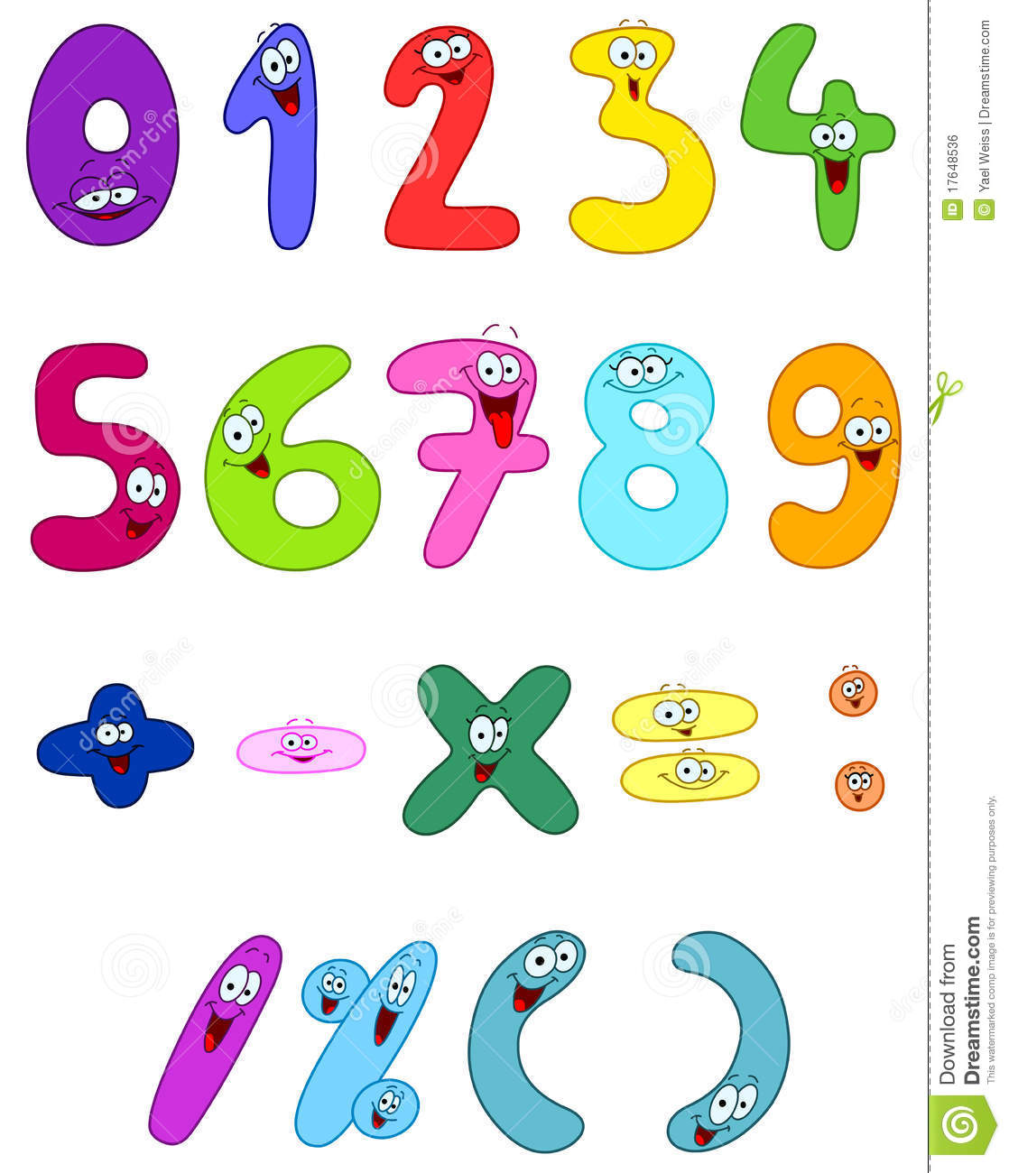 Cartoon Numbers Royalty Free Stock Image   Image  17648536