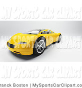 Clip Art Of A Modern Yellow Audi Sports Car From The Front By Frank