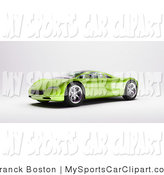 Clip Art Of A Shiny Modern Green Sports Car Facing Left By Frank