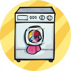 Clipart Image Of Clothes In A Washing Machine