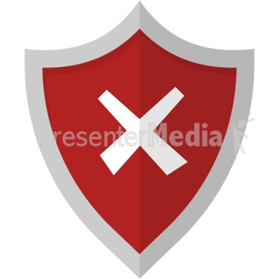 Cross Shield Presentation Clipart