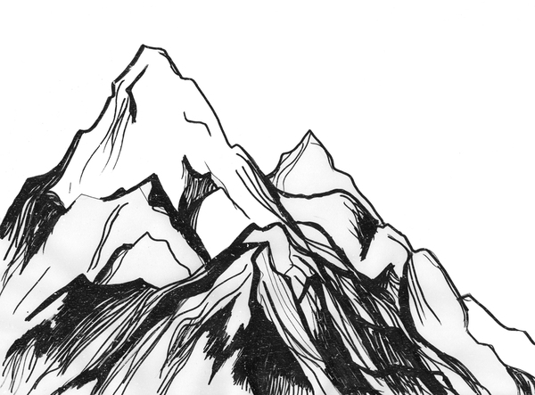 Displaying  17  Gallery Images For Mountain Sketch